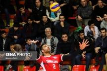 شکست شهرداری تبریز در پایان مرحله اول لیگبرتر والیبال