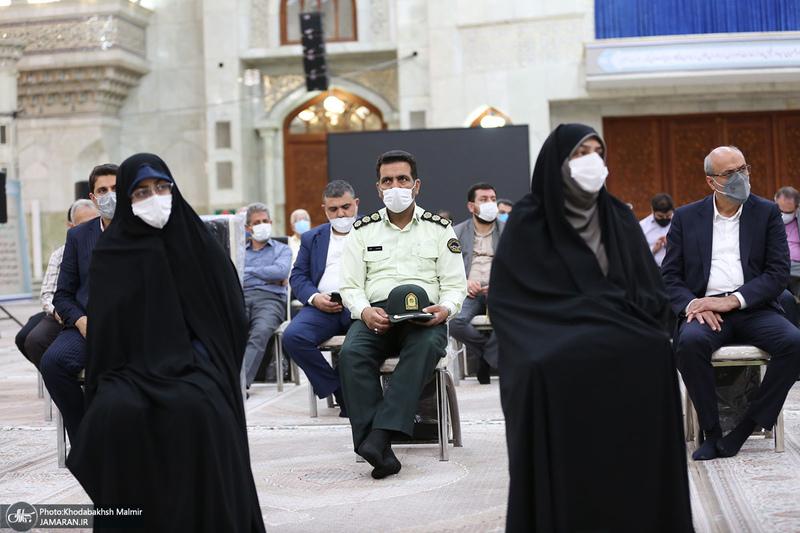 تجدید میثاق رئیس و اعضای دوره جدید شورای اسلامی شهر تهران با آرمان های امام خمینی(س)