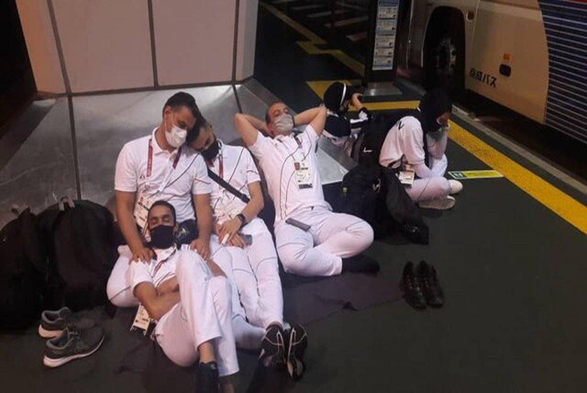 بی نظمی عجیب ژاپنی ها برای کاروان های ورزشی در فرودگاه توکیو