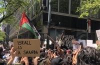 تظاهرات ضدصهیونیستی مردم آمریکا